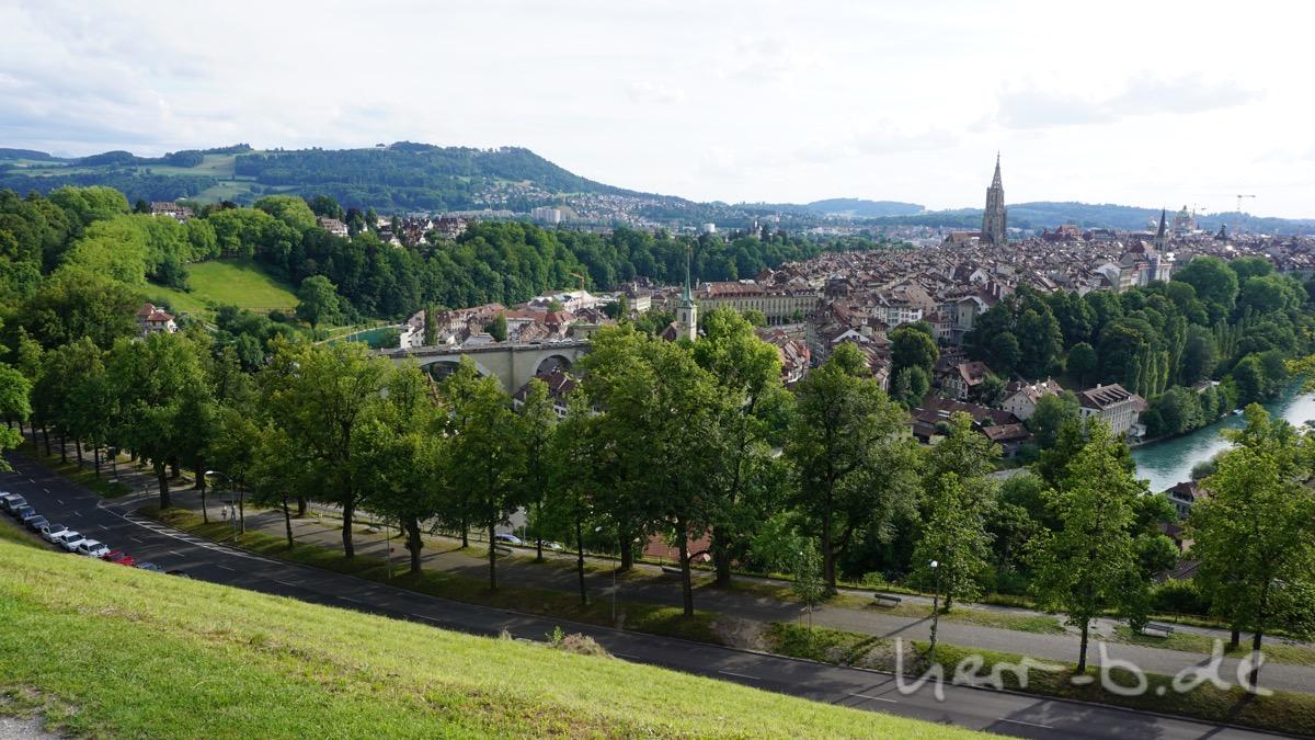 Ausblick vom Rosengarten.