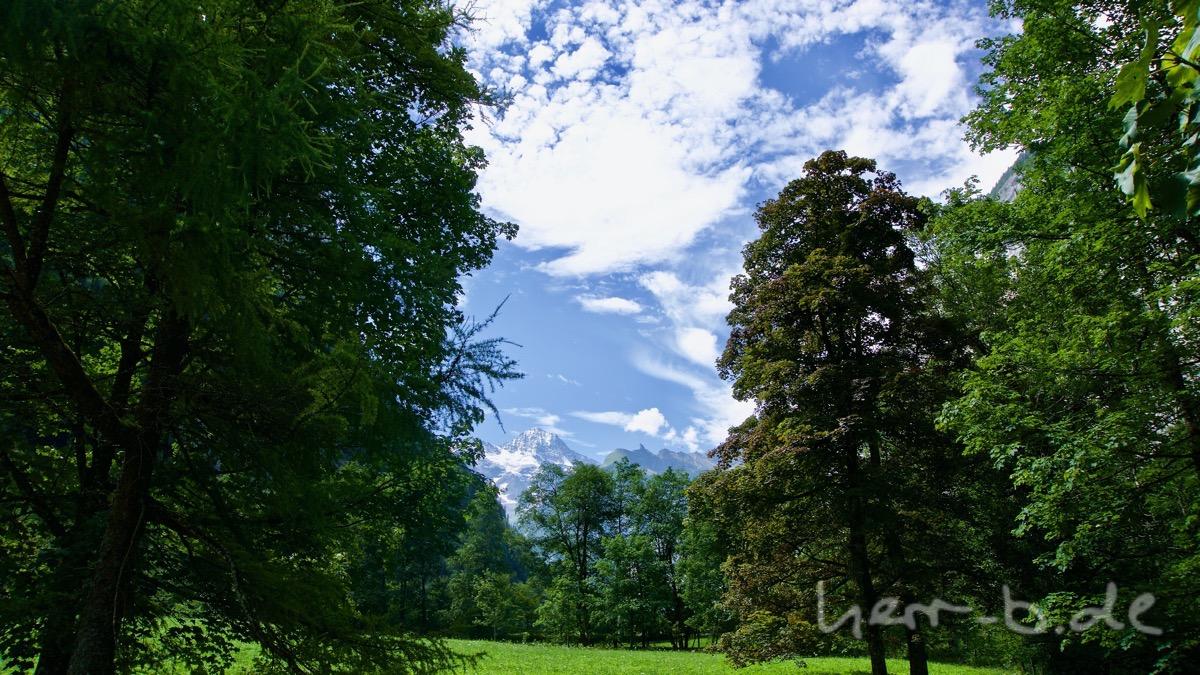 Idyllische Aussicht im Lauterbrunnental