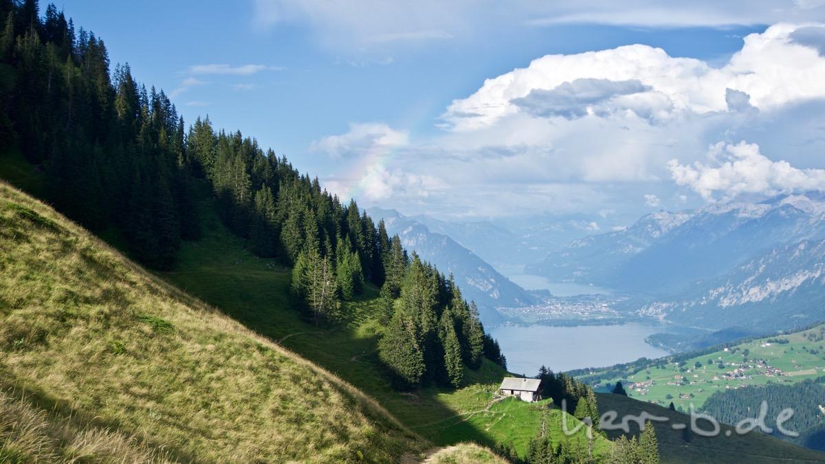 Letzter Regenbogen beim Abstieg.