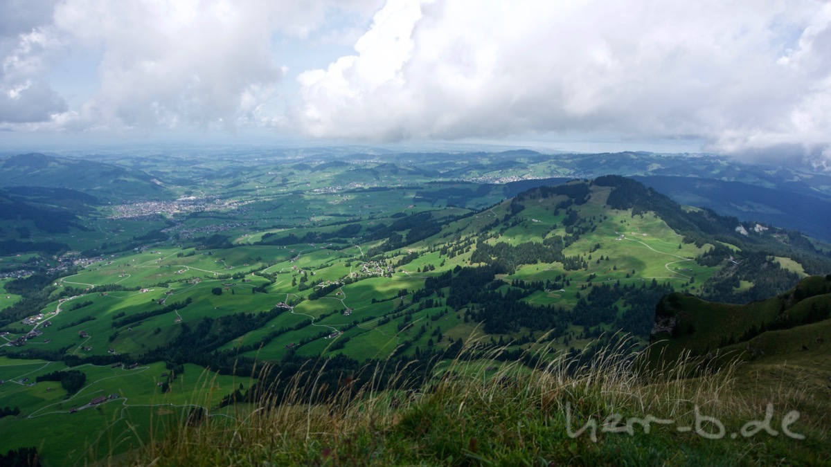 Blick vom Kamor auf Appenzell.