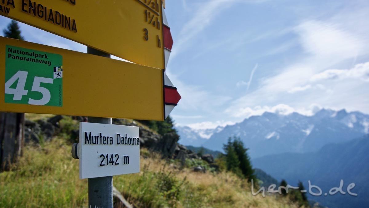 Murtera Dadoura auf 2'142 Meter Höhe.