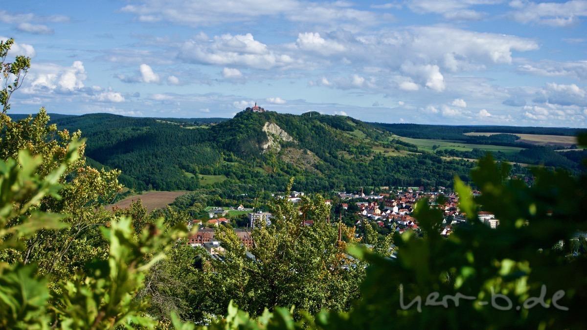 Die weltschönste Leuchtenburg vom Hornissenberg aus.