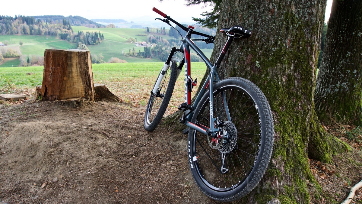Das neue Bike auf dem Ulmizer.