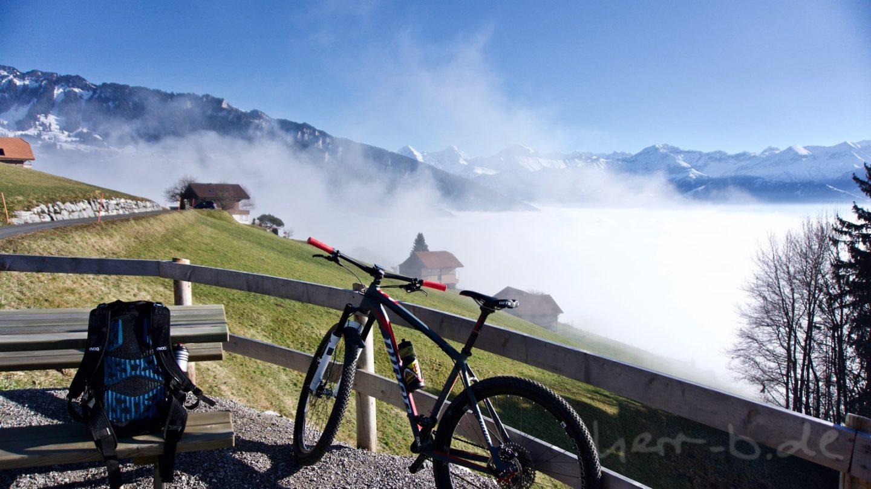 Luftikus über der Nebelgrenze