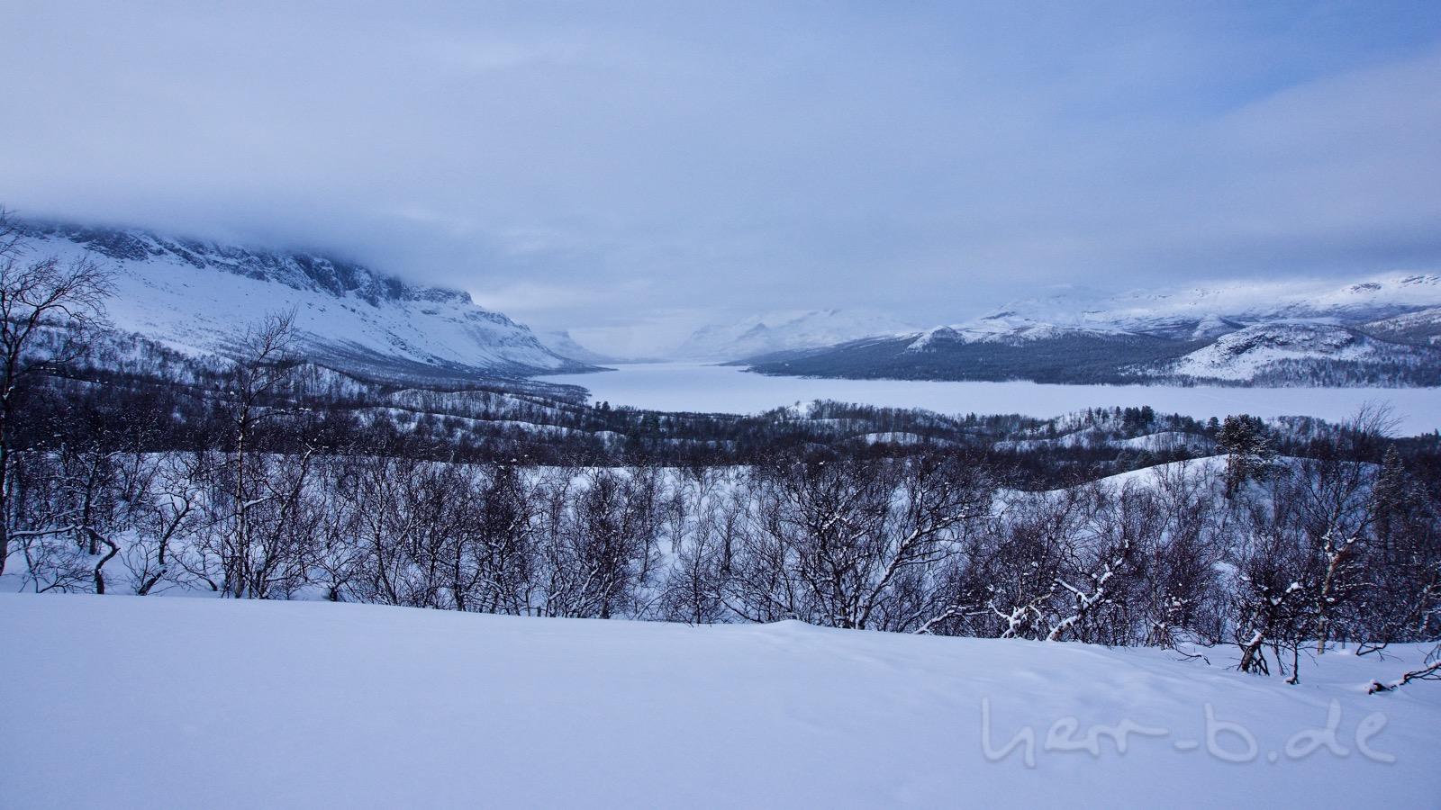 Ausblick oberhalb von Saltoluokta.