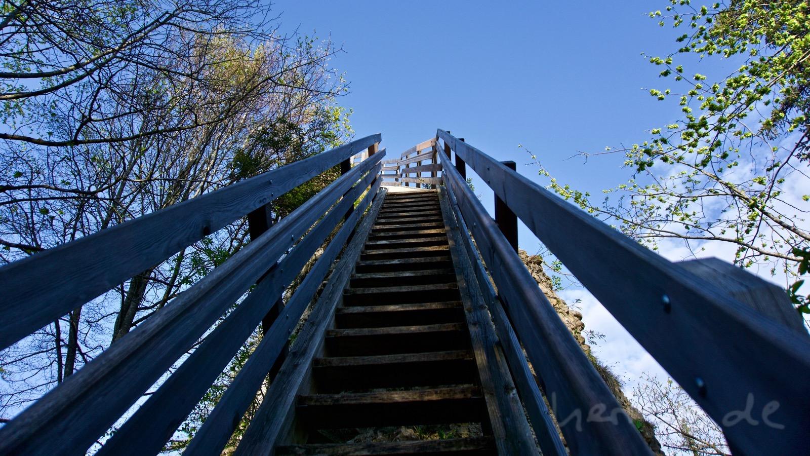 Die Treppe in den Himmel.
