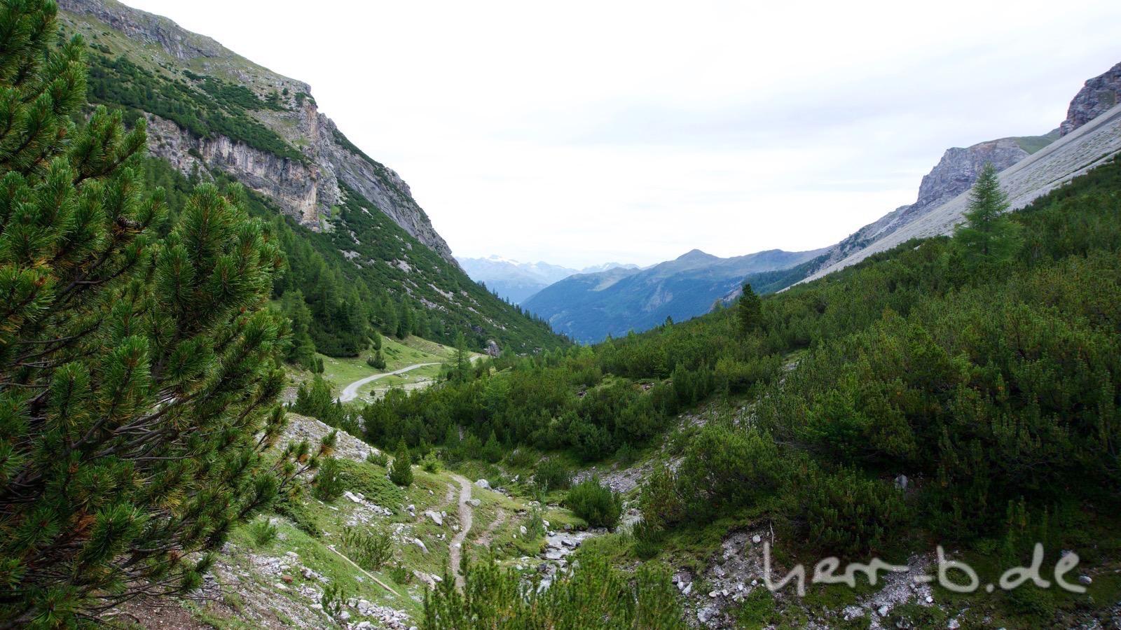 Im Aufstieg vom Val Müstair ins Val Mora.