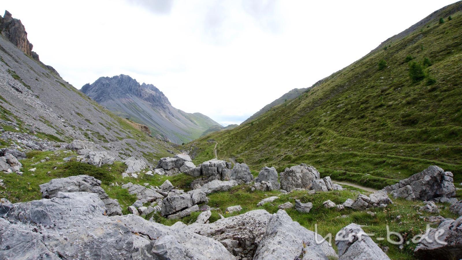 Der Trail zum Passo Trela.
