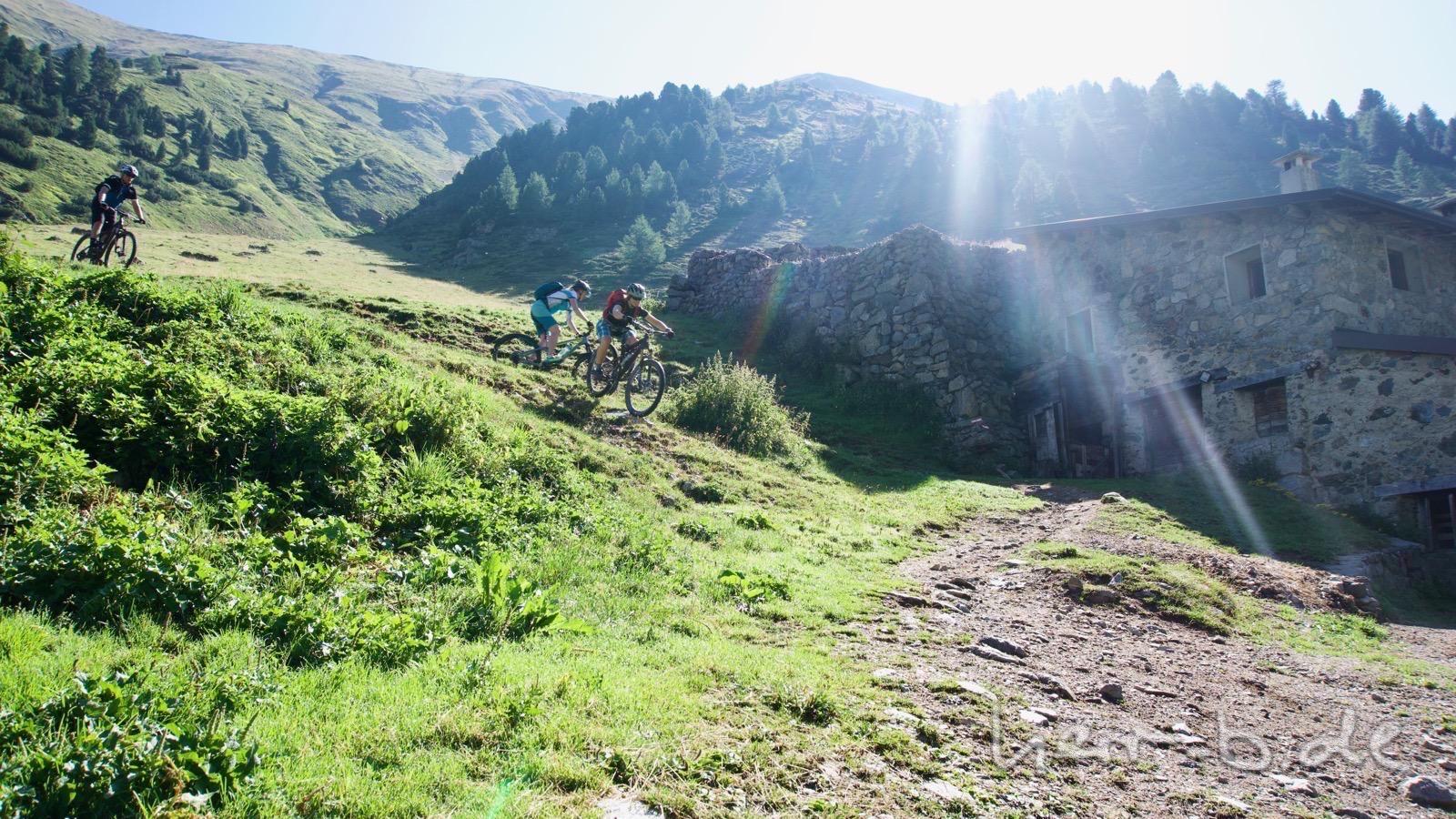 Abfahrtsspaß an der Alpe Mine bei Livigno.