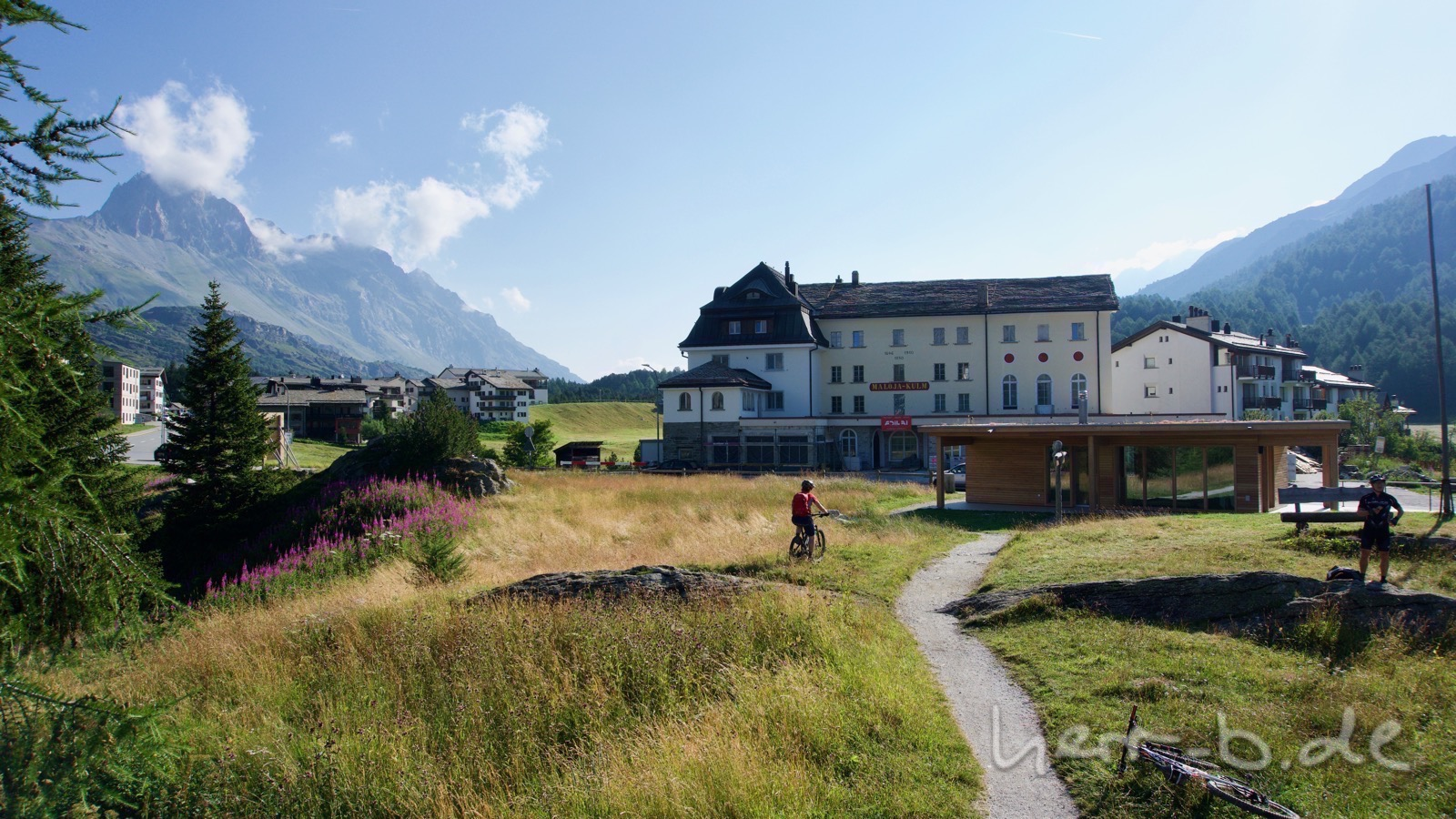 Das Hotel Maloja Kulm.