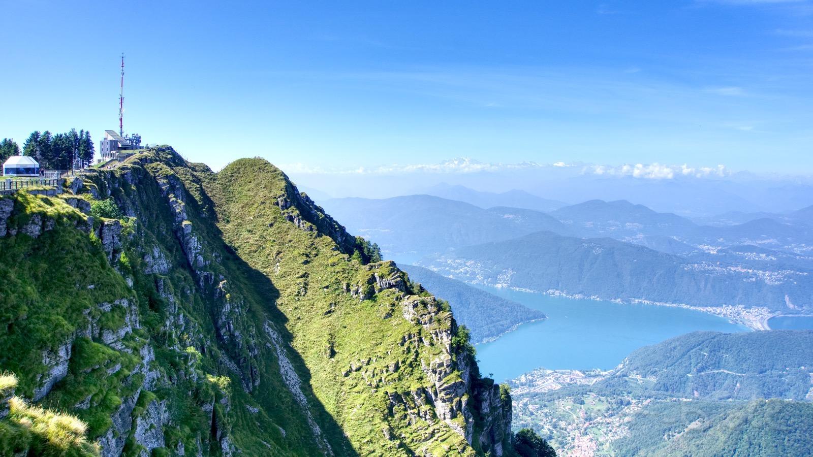 Grandioser Ausblick am Monte Generoso.