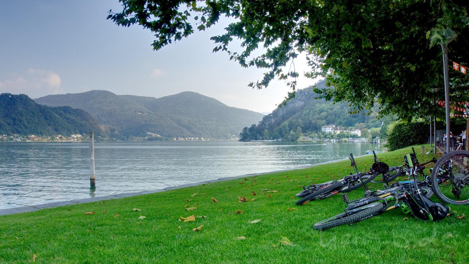Angekommen in Caslano am Lago di Lugano.