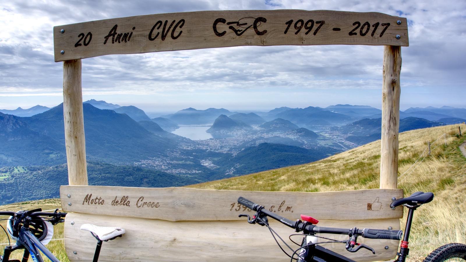Ausblick am Motto della Croce heute ohne Nebel.