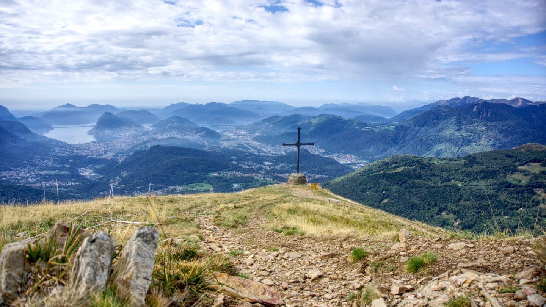 Motto della Croce mit Blick auf Lugano.