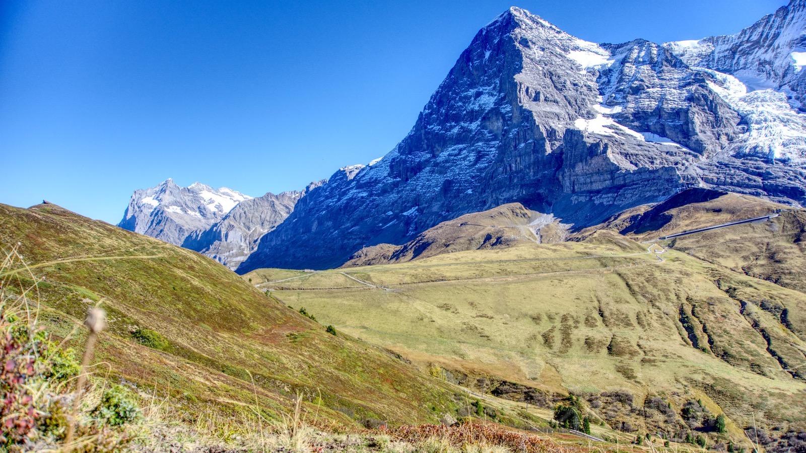 Der Eiger mit seiner imposanten Nordwand.