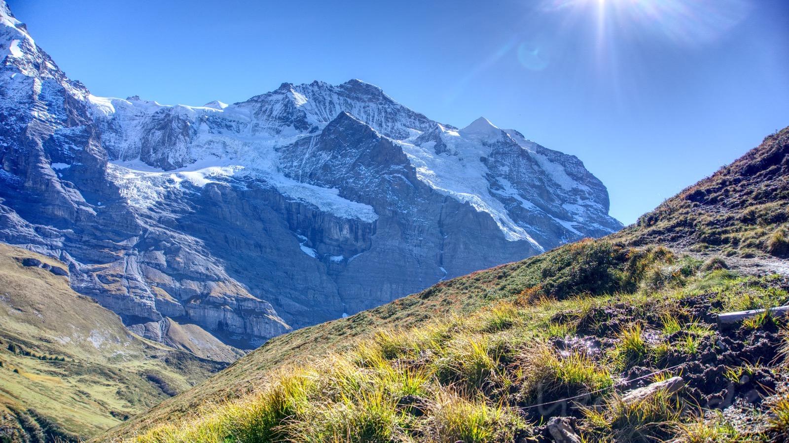Die Flanke des Jungfraumassivs.