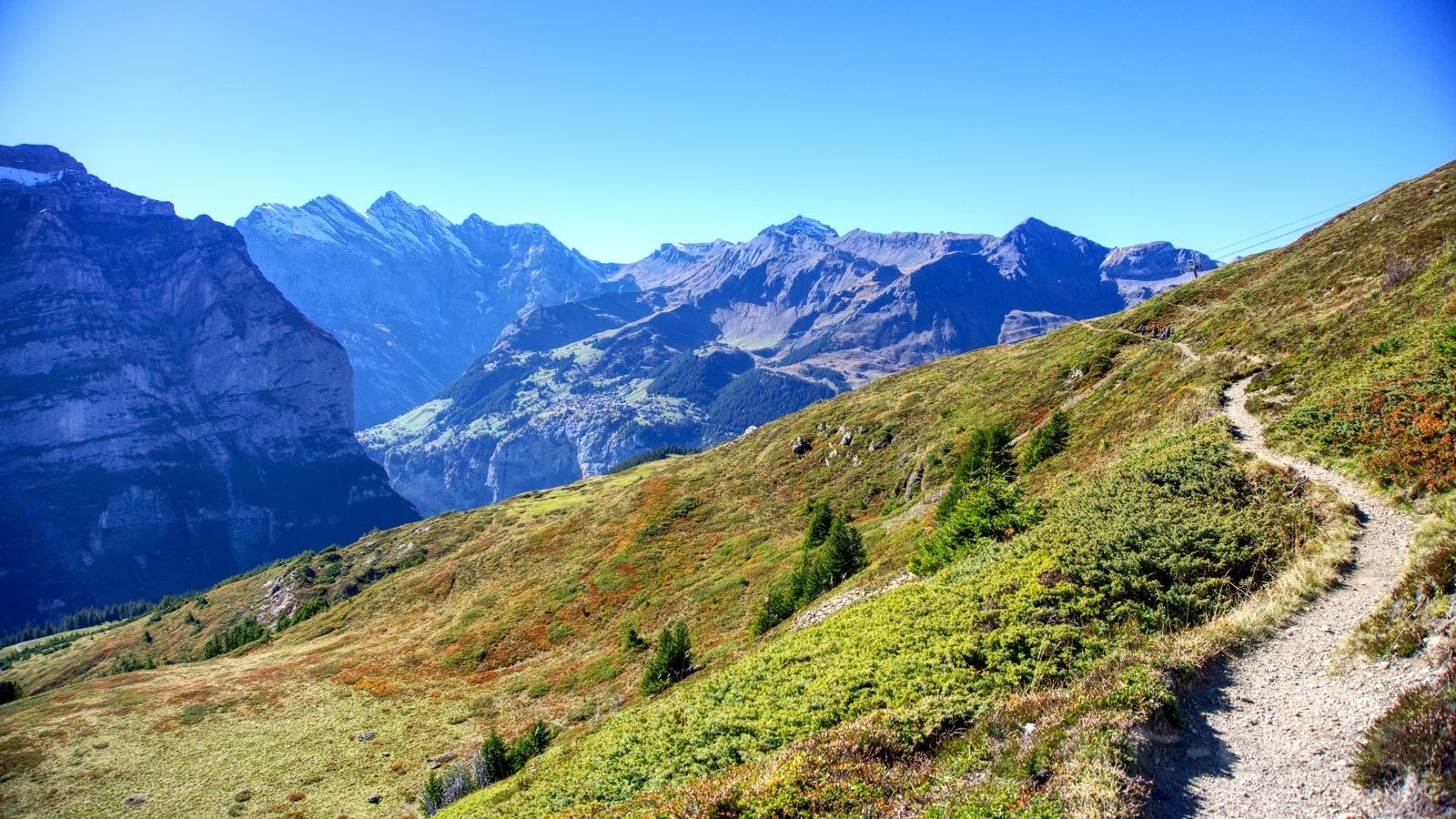 Der Pfad von der Kleinen Scheidegg zur Rinderhütte.