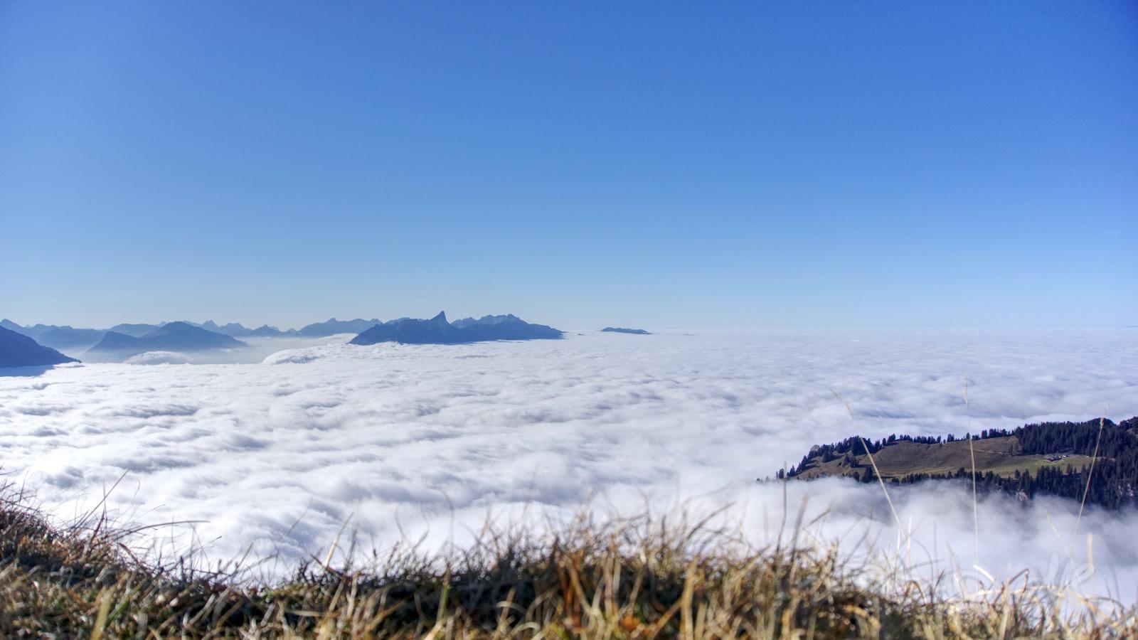 Das riesige Nebelmeer.