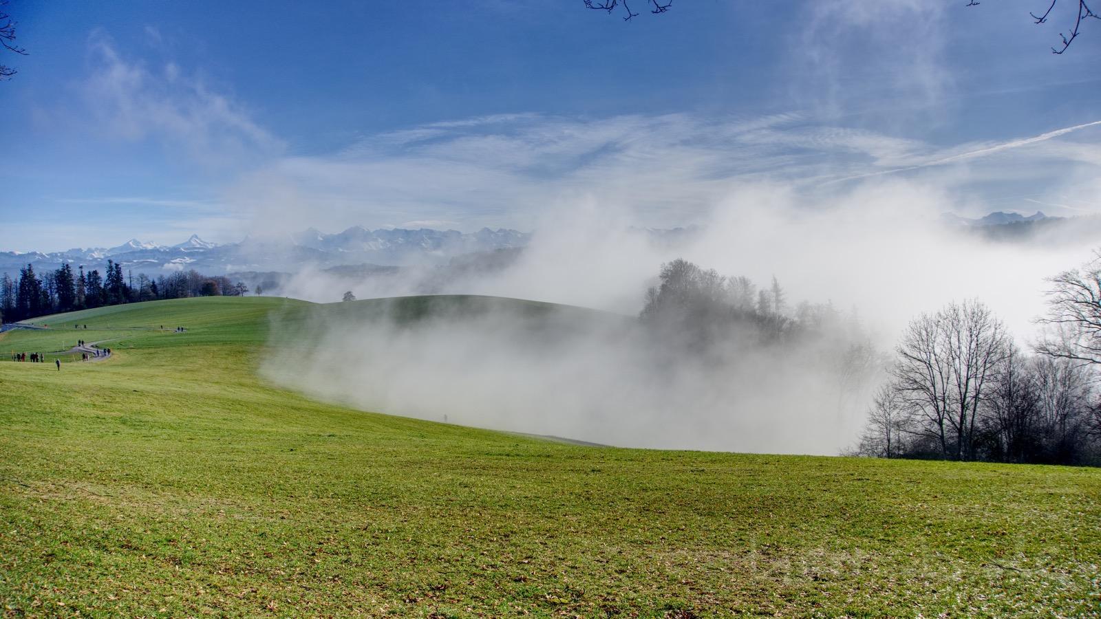 Sonne und Nebel auf dem Gurten