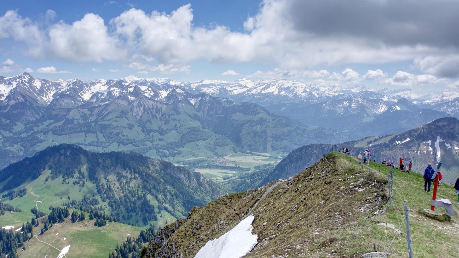 Ausblick auf die Alpen.